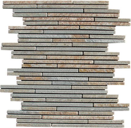 Natural Stone Thin Strips Slate Mosaic