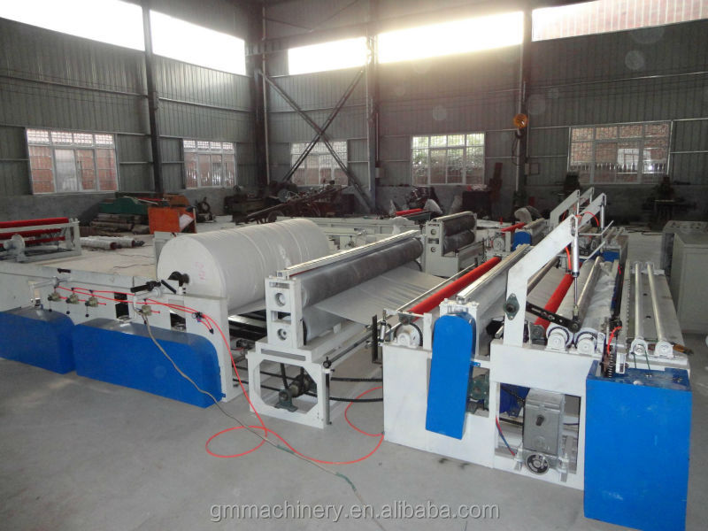 toilet paper rewinding machine for toilet toll making