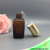 Amber glass empty 25ml square essential oil bottle for e juice/attar/serum wtih gold push button cap