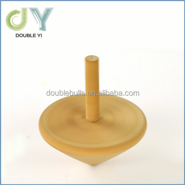Handcraft Wooden spinning Top Wooden Peg-top for wholesale