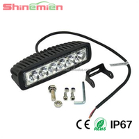 3x6leds tractor led work light 18W LED Driving Light,Led Motorcycle Headlight Waterproof IP67