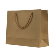 New unique large christmas gift paper bags brown kraft paper bags