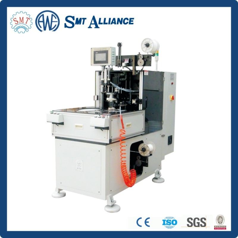 Small motor automatic stator wire coil winding inserting lacing machine