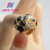 Hot sale beautiful fake gemstone ring for girls