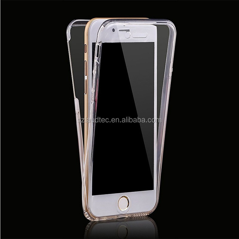 Hot selling Shockproof 360 Degree Silicone Gel TPU Protective Clear Case Cover For Apple iPhone 7, For iPhone 7 Back Case