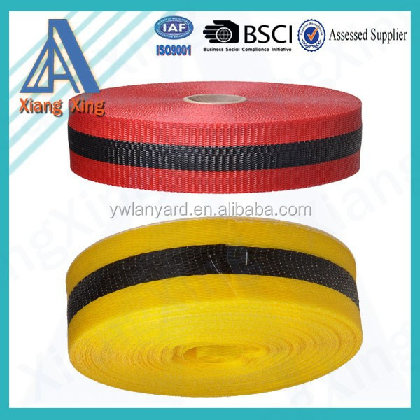 Factory price high strength colorful polypropylene webbing tape pp belt pp tape