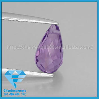 Genuine Natural Violet Amethyst Briolette loose gemstone