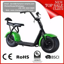 New style 60V 1000W electric scooter citycoco scooter 2 seats mobility scooter