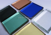 Qingdao supplier Top grade reflective glass /colorful coated glass /building glass