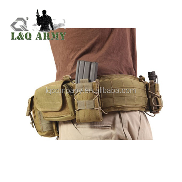 Tactical Belt MOLLE Webbing Battle Belt Tactical Waist Pistol Duty Belt for Law Enforcement