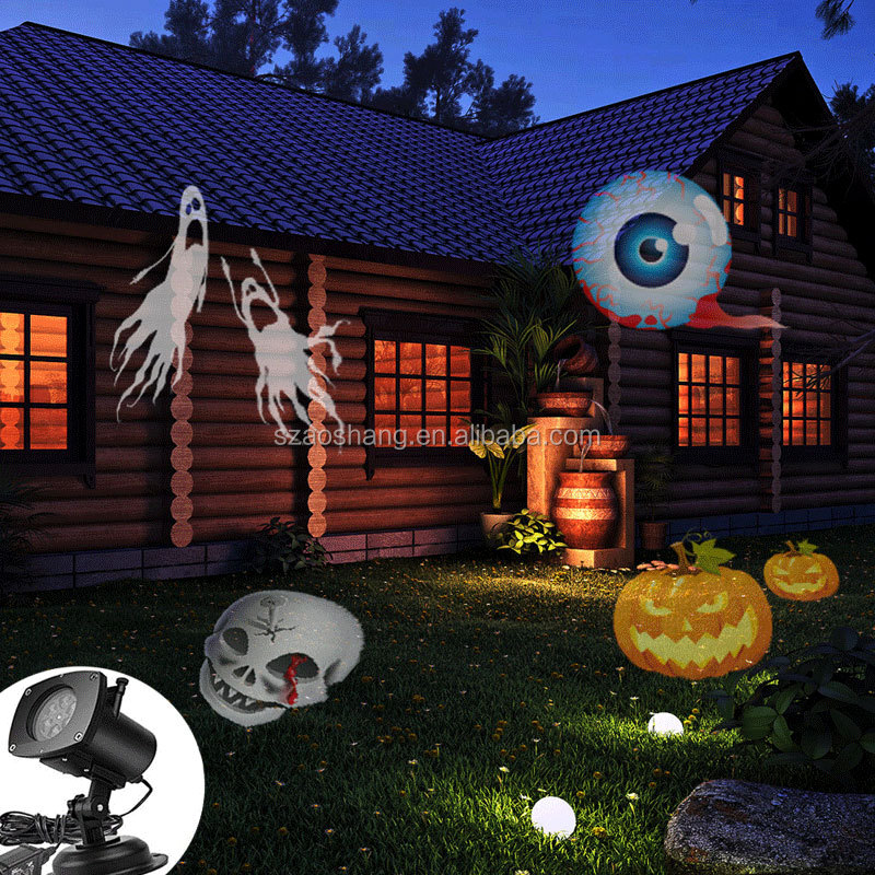 Halloween Decoration Waterproof IP65 Landscape Projector LED Light 12 Color Switchable Patterns