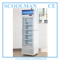 Upright Single Glass Door Fridge for Drinks