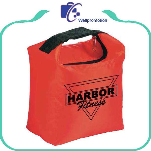 Polyester insulated clip cooler lunch bag with custom logo