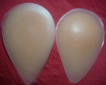 Small silicone buttock and hip pads for women