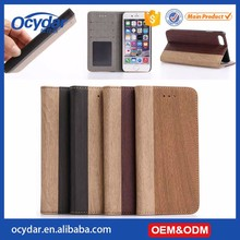 Hot Selling High Quality Wooden Pattern Leather Mobile Phone Case for iPhone 7 Plus