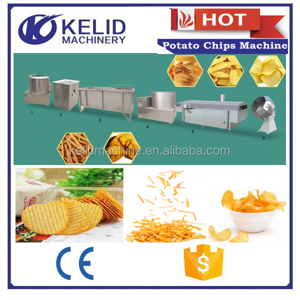 commercial potato washing peeling and cutting machine potato chips product line