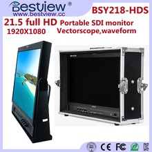 "BESTVIEW 21"" IPS Panel Full HD 1920x1080 pixels high stability SDI HDMI Ypbpr input broadcast lcd monitor for TV news production"