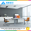 Modern office table design with steel legs LS-04
