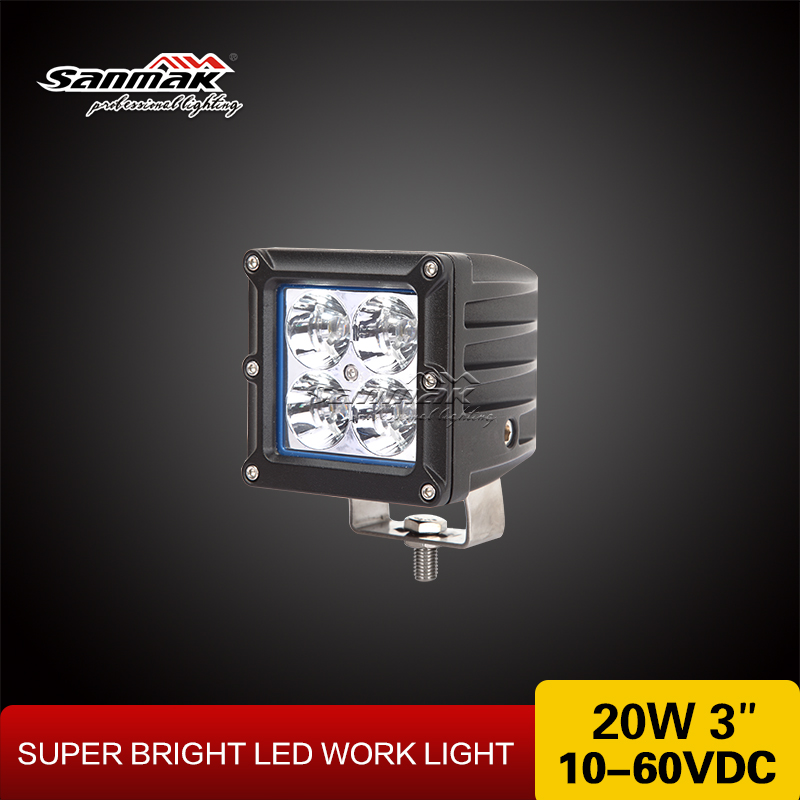 "Wholesale LED Car Cube Light 3"" Off Road Car Led Square LED CREE Work Light 20w"
