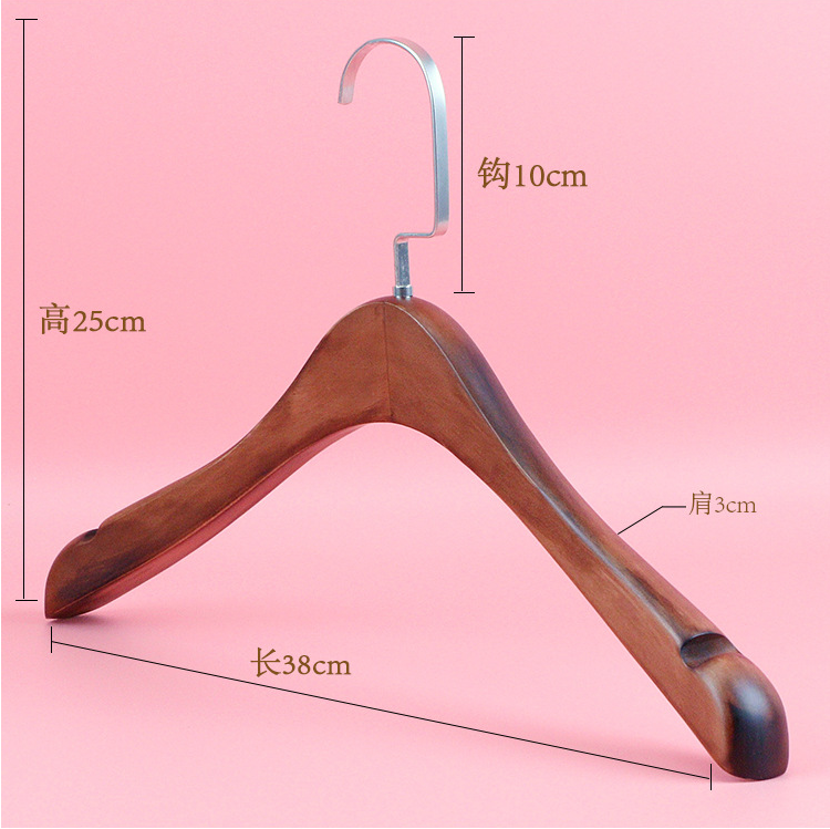 Trade assurance wholesale cheap round hook natural wood clothes hangers