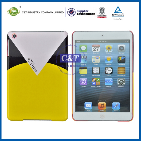 High-quality customize minion two folds pc case for mini ipad