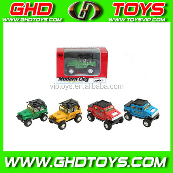 OEM die cast toy, alloy model jeep pull back car, metal toy for promotion
