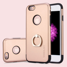 Luxury finger ring stent phone case for iphone 360 degree rotating ring metal kickstand stand cover for iphone 6