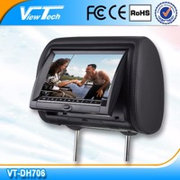 Viewtech 7inch car headrest dvd with FM/AM function