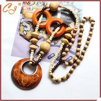 Ancient Desgin Wood Bead Necklace Wholesale