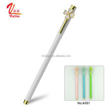 Kawaii gel ink pen flower design cute school stationery adorable pen