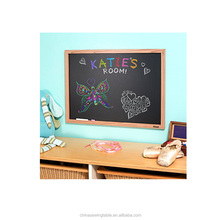 Chalkboard Magnetic With Wooden Frame Erasable Blackboard For Chalk Markers.17 x 11 x 0.5 inches