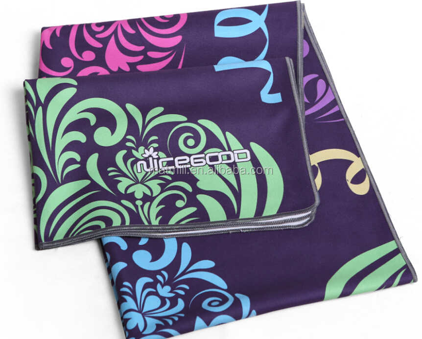 China supplier Ultra absorbent,Machine washable Microfiber hot yoga towel,microfiber sports gym towels