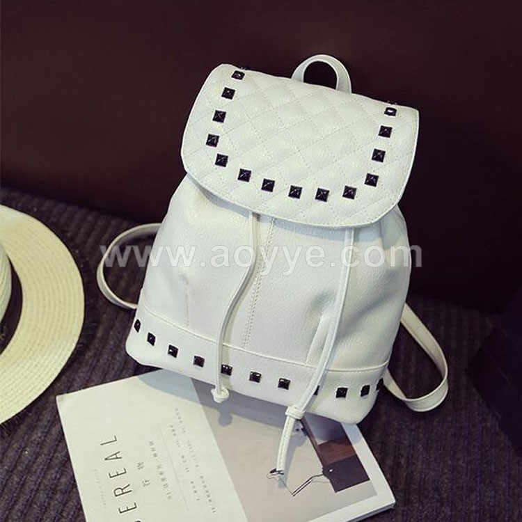 Fashion rivet women's shoulders leisure travel bag backpack