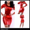 hot selling short above knee lengh red women party dress