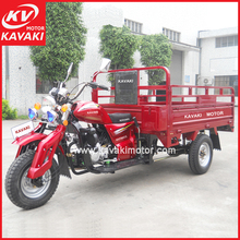 Nice Looking Red Color 3 Wheel Petrol Engine Cargo Tricycle Motorcycle Trike With MP3