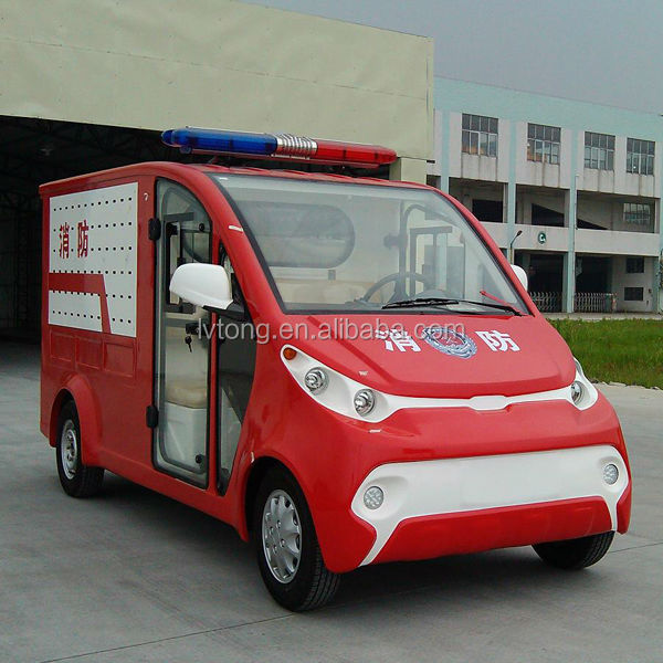 Small 2 person electric fire fighter truck