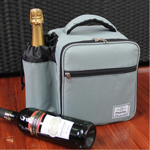 PVC insulated cool carry beer wine lunch picnic cooler bag with drink holder