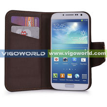 New arrival folio pu leather case for samsung galaxy s4 i9500 with detachable magnetic back cover