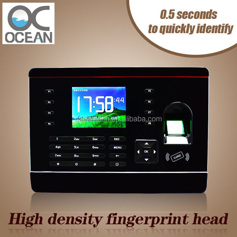 High speed USB Host/ RS485/ TCP/IP biometric fingerprint & PIN time attendance recorder machine