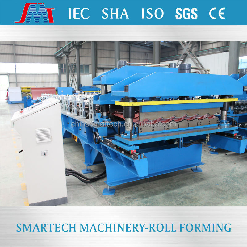 SMT YLD183 cold Steel sheet metal roof tile roll forming machine