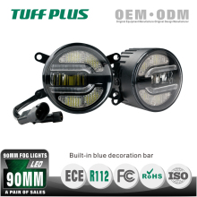 Emark new arrival 90 mm LED hyundai elantra fog light With DRL for cars