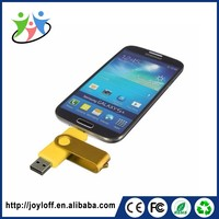 Updated Cheapest Dual Port Otg Mobile Smart Phone Metal Swivel Usb Stick 2.0 Flash Drive