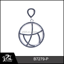sterling silver charms hollow ball pendants 925 silver