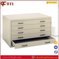 High quality steel flat file drawing cabinets with base