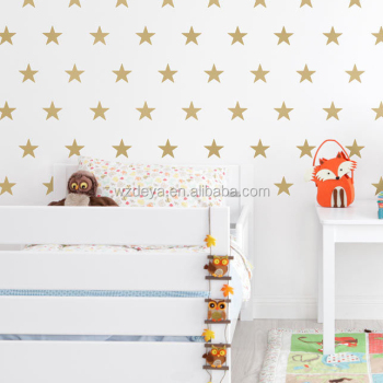 Vinyl Star Wall Decal Stickers for Home Wall Decor Night Sky Removable Graphic Transfers for Nursery or Kids Room (set of 125pcs