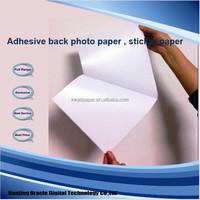 105g adhesive photo paper, Inkjet Glossy Sticker Photo Paper
