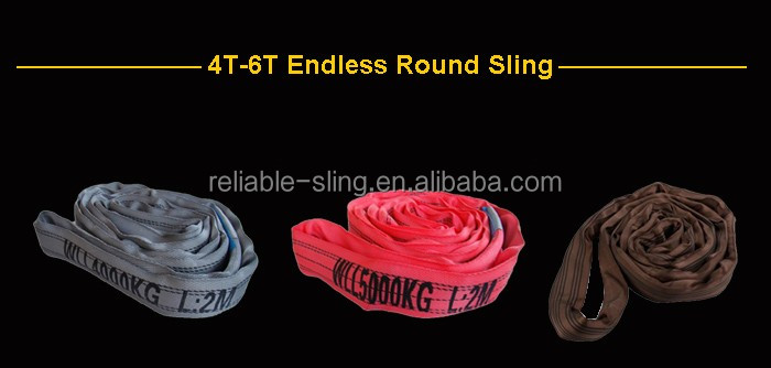 Low Price Wholesale Polyester Round Sling With Custom Color