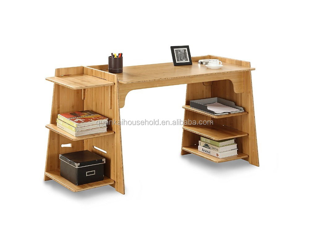 Natural 70-Inch Bamboo Home Office Desk