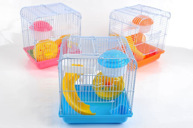 Hamster accessories easy install duplex hamster cages wholesale