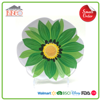 Hot Sale Plastic Melamine Decorative Flower Plate With Relief Design